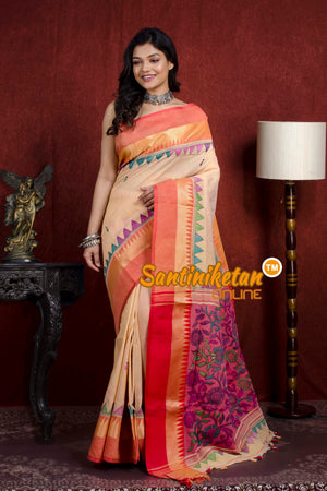 Handloom Cotton Kantha Saree SN20219822