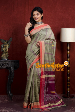 Handloom Cotton Kantha Saree SN20219830