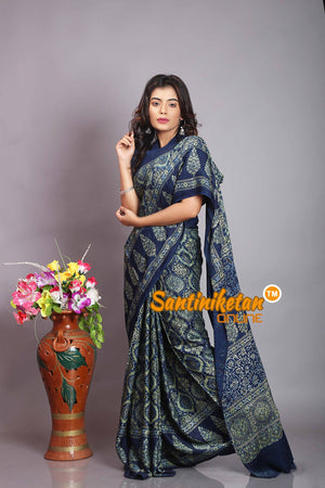 Ajrakh Hand Block On Modal Silk SN20194228