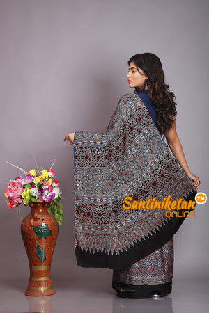 Ajrakh Hand Block On Modal Silk SN20194269