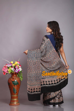 Ajrakh Hand Block On Modal Silk SN20194301