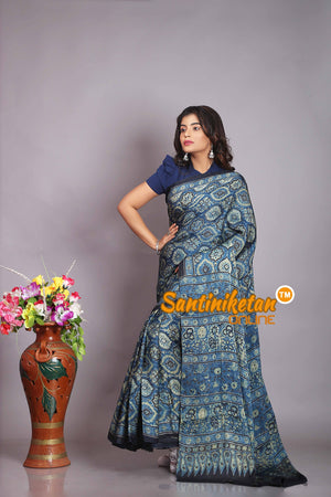 Ajrakh Hand Block On Modal Silk SN20194319