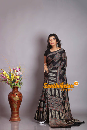Ajrakh Hand Block On Modal Silk SN20194414