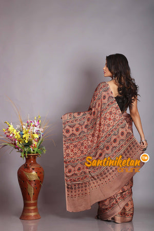 Ajrakh Hand Block On Modal Silk SN20194521