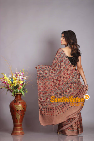 Ajrakh Hand Block On Modal Silk SN20194540