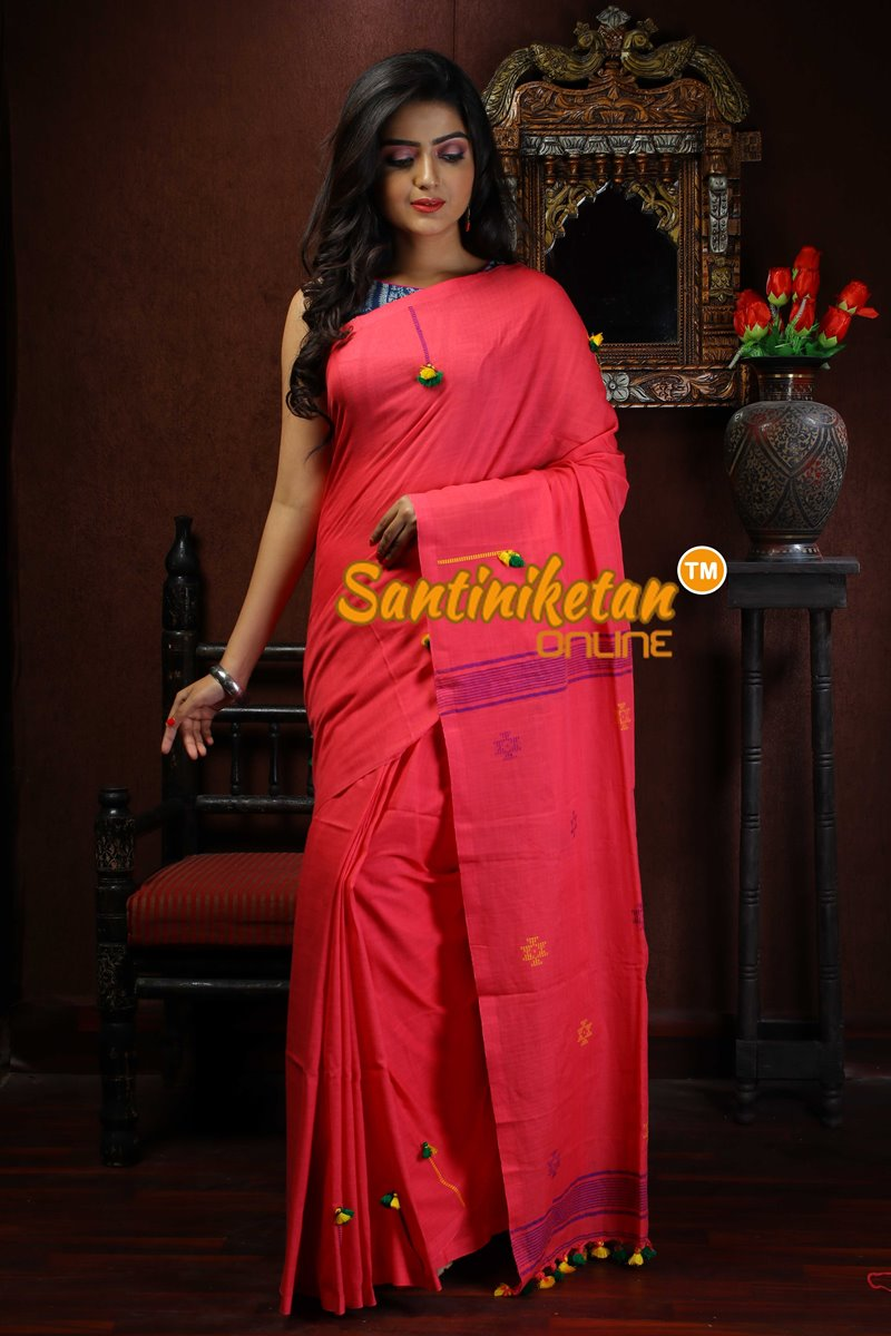 Cotton Jamdani Work On Pallu SN2018719