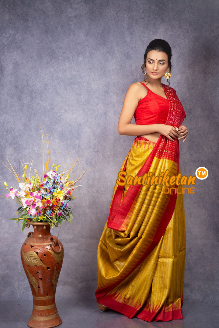 Traditional Gopalpur Tussar Ghicha Silk Saree SN20207827