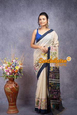 Handloom Cotton Kantha Saree SN20208079