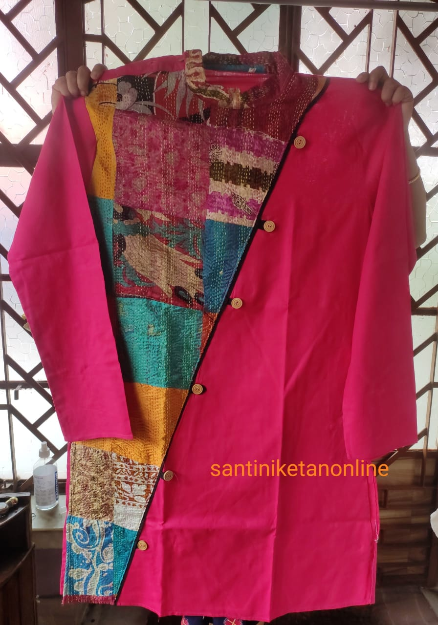 Pure Silk Kantha Patch Kurta SN2020MKW01