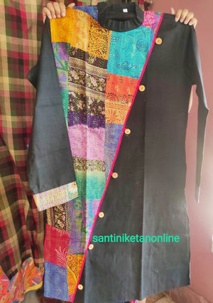 Pure Silk Kantha Patch Kurta SN2020MKW02