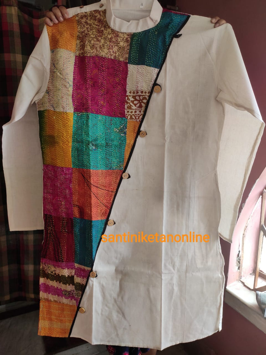 Pure Silk Kantha Patch Kurta SN2020MKW03
