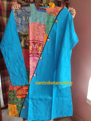 Pure Silk Kantha Patch Kurta SN2020MKW06