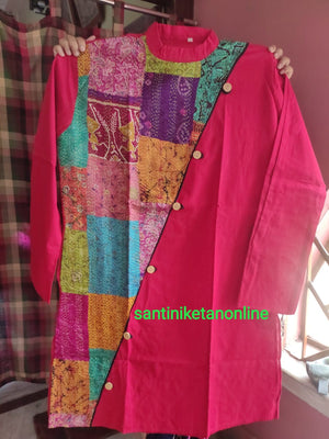 Pure Silk Kantha Patch Kurta SN2020MKW07