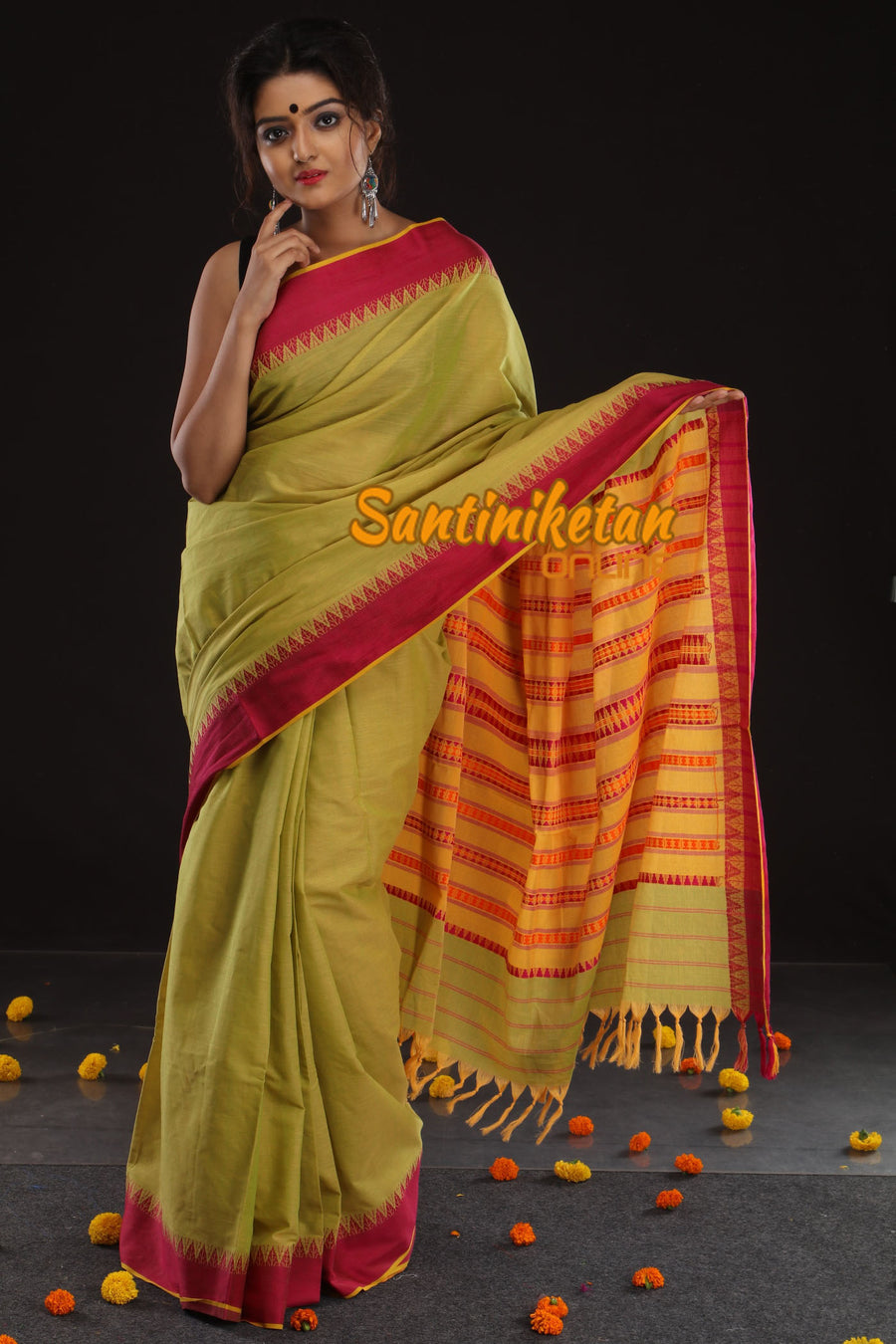Begampuri In Design Border With Pallu Manipuri Work (SN2017480)