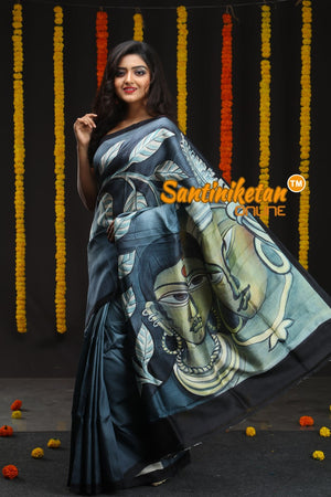 Hand Made Design On Murshidabad Silk 06 (SN2018677)