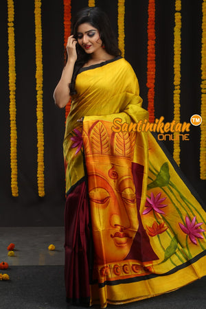 Hand Made Design On Murshidabad Silk 11 (SN2018682)