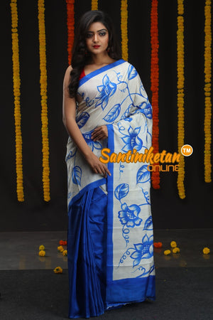 Hand Made Design On Murshidabad Silk (SN2018671)