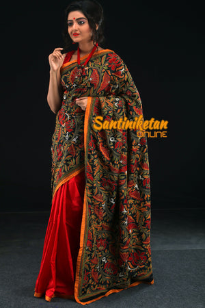 Red Black Kantha Stitch (SN201684)