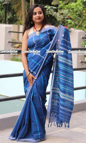 Vibrant Blue Color Saree With Full Tribal Work (SN2017201)