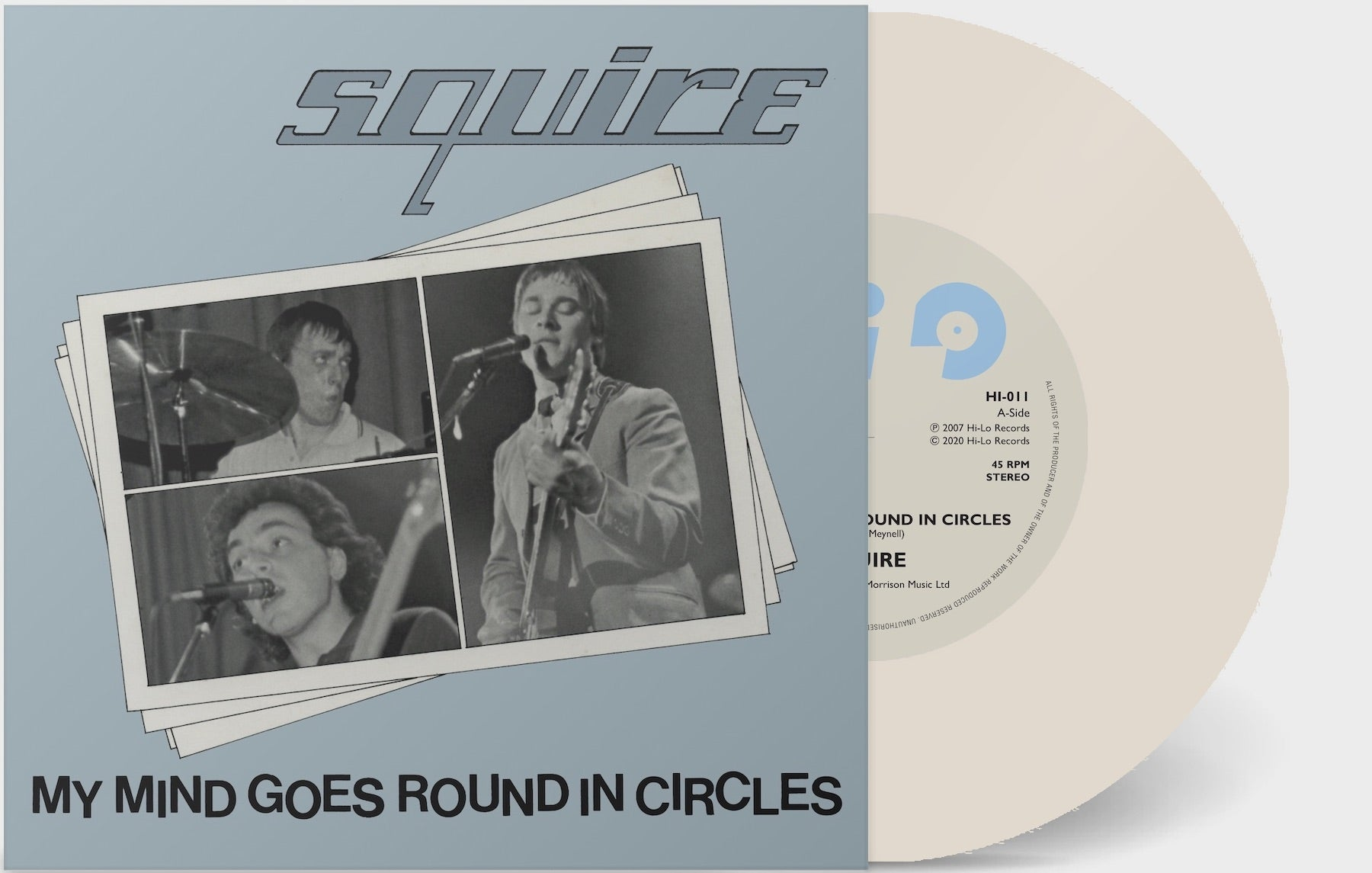 Squire - My Mind Goes Round In Circles  - Vinyl 7 inch MILKY CLEAR
