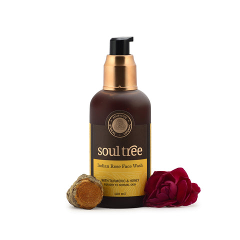 INDIAN ROSE FACE WASH WITH TURMERIC & HONEY 120ml