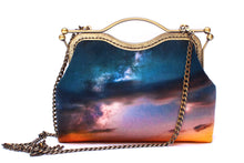 Load image into Gallery viewer, Clouds Above Velvet Handbag