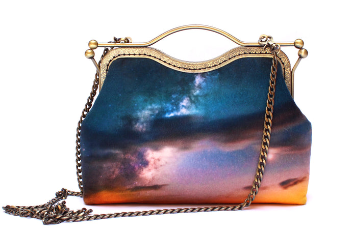 Clouds Above Velvet Handbag