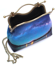 Load image into Gallery viewer, Bass Lake Under the Milky Way Velvet Handbag
