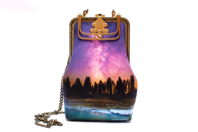 Midsummer Dreams Velvet Handbag