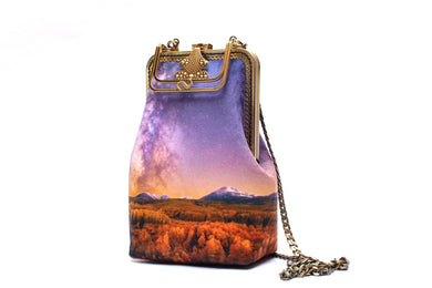 Fall Foliage Velvet Handbag