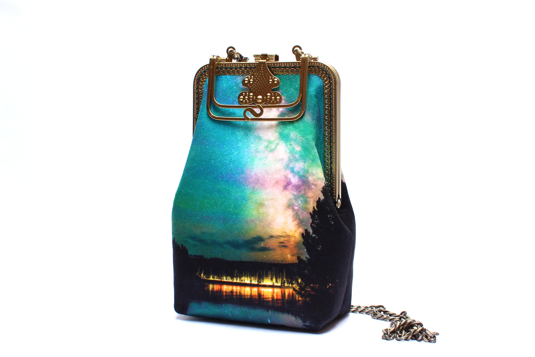 Yellowstone River Velvet Handbag