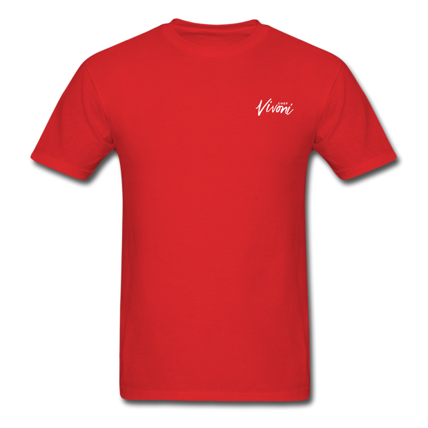 Unisex Chef Vivoni White Logo T-Shirt - red