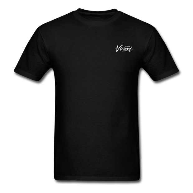 Unisex Chef Vivoni White Logo T-Shirt - black