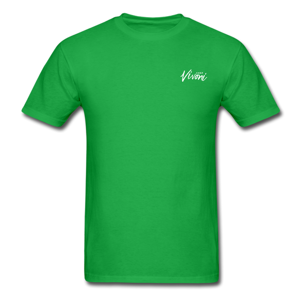Unisex Chef Vivoni White Logo T-Shirt - bright green