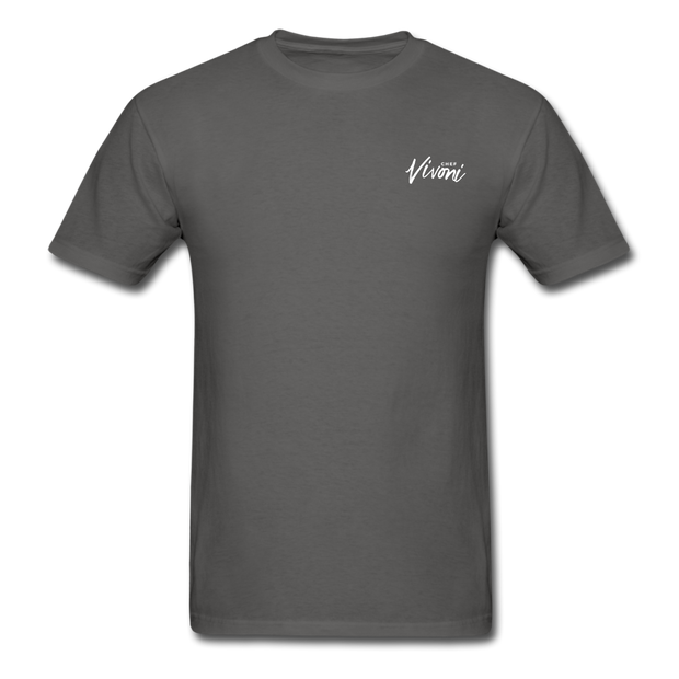 Unisex Chef Vivoni White Logo T-Shirt - charcoal
