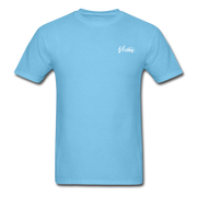 Unisex Chef Vivoni White Logo T-Shirt - aquatic blue