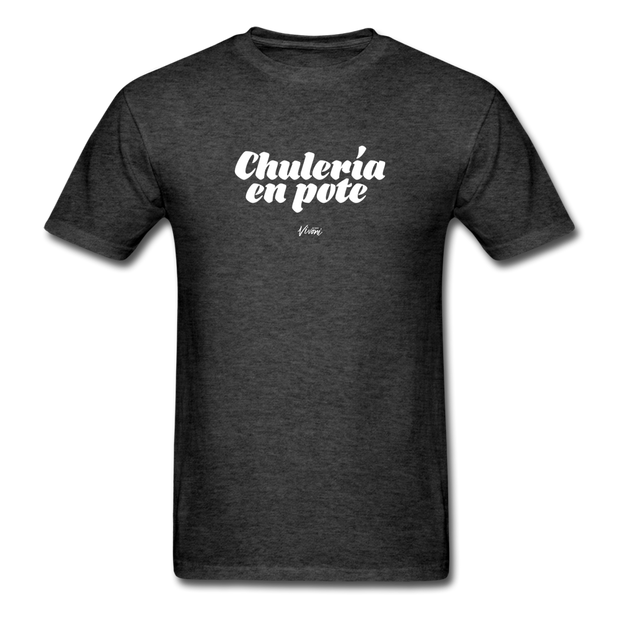 Unisex Chulería en Pote T-Shirt - heather black
