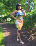 TIE DYE BODYCON DRESS