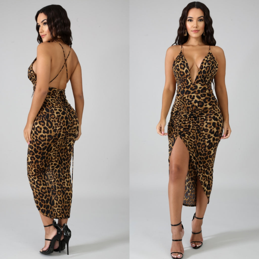 Animal Instincts Leopard Dress