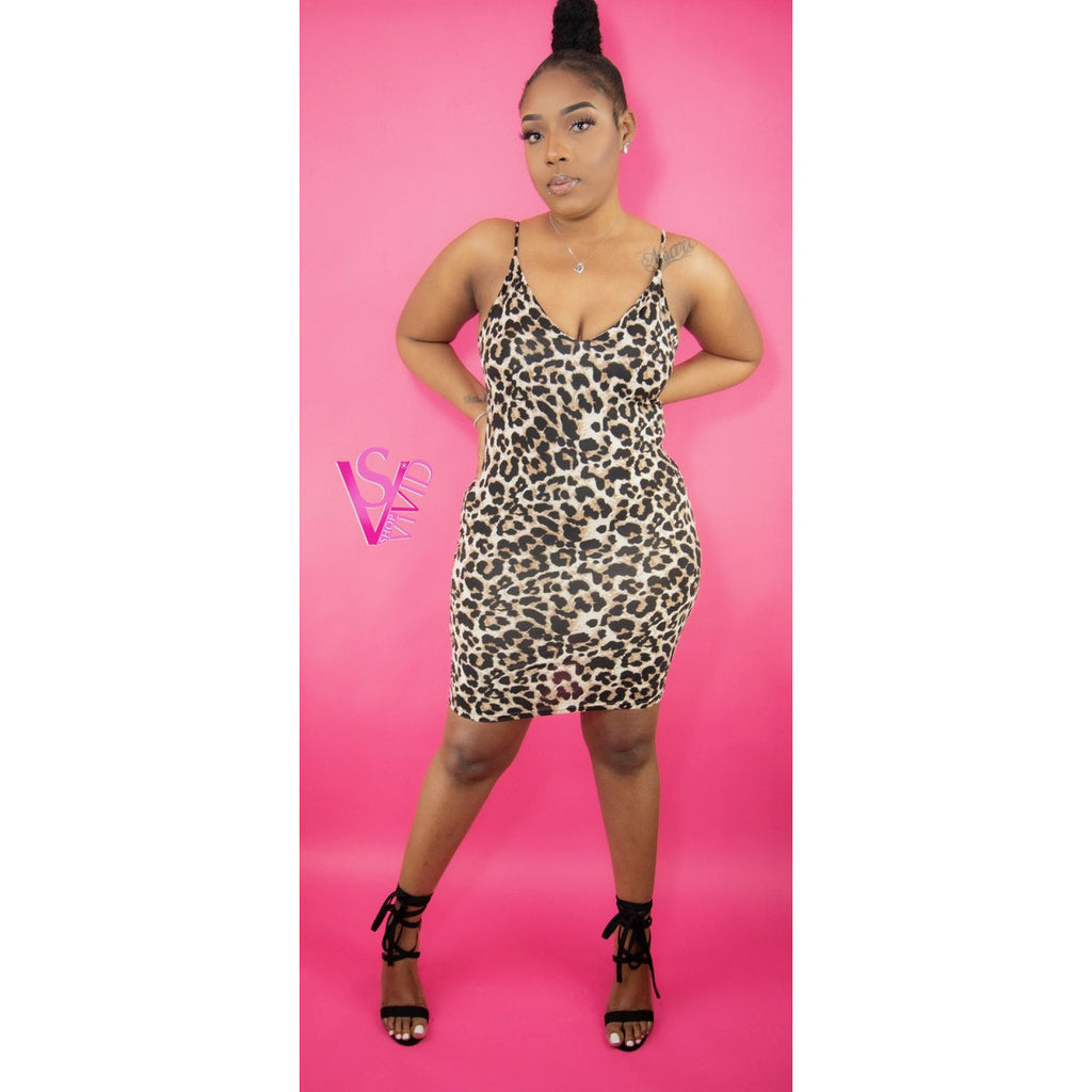 Wilding Out Leopard Print Dress
