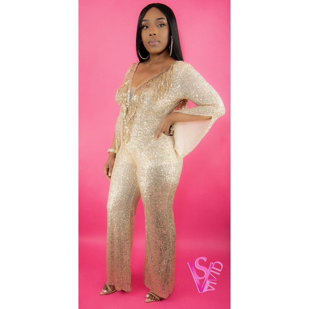 Royalty Vibes Sequin Jumpsuit