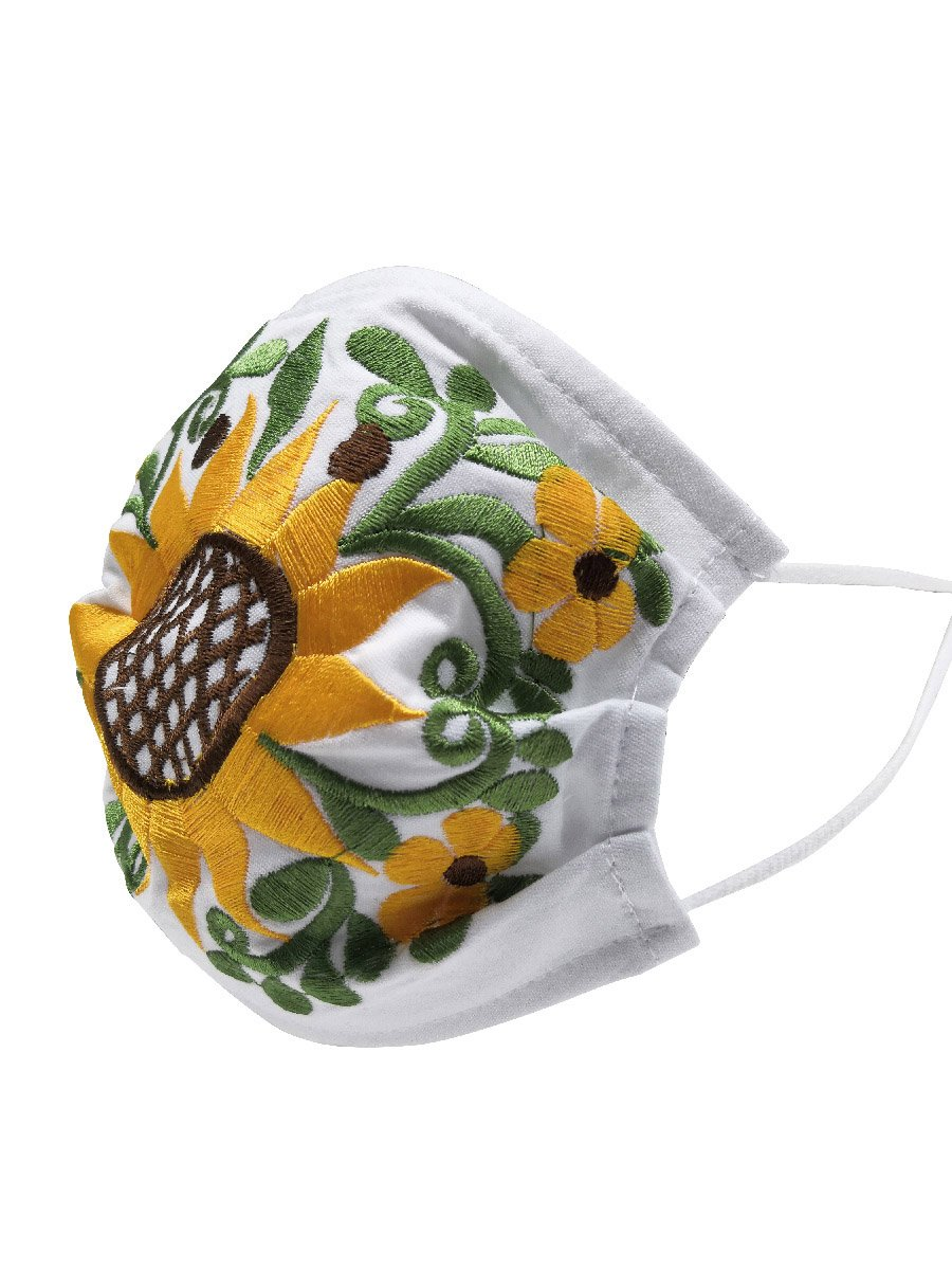 """Cubrebocas Para Niña Artesanal Bordado"" - ""Children's Artesanal Embroidered Face Mask"", [Mexico Artesanal"