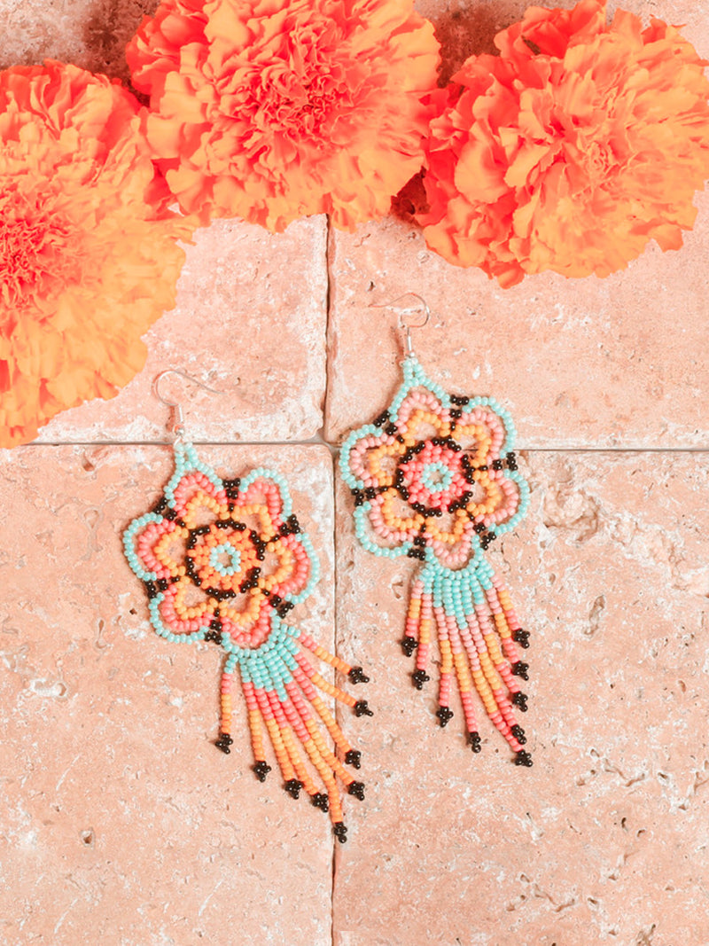 Aretes Artesanales Huichol - Huichol Beaded Earrings