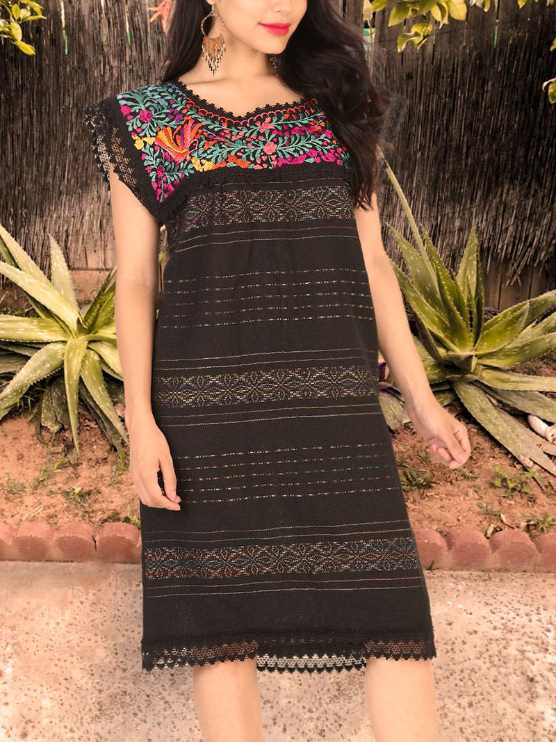 Vestido Artesanal  - Traditional Mexican Dress, [Mexico Artesanal