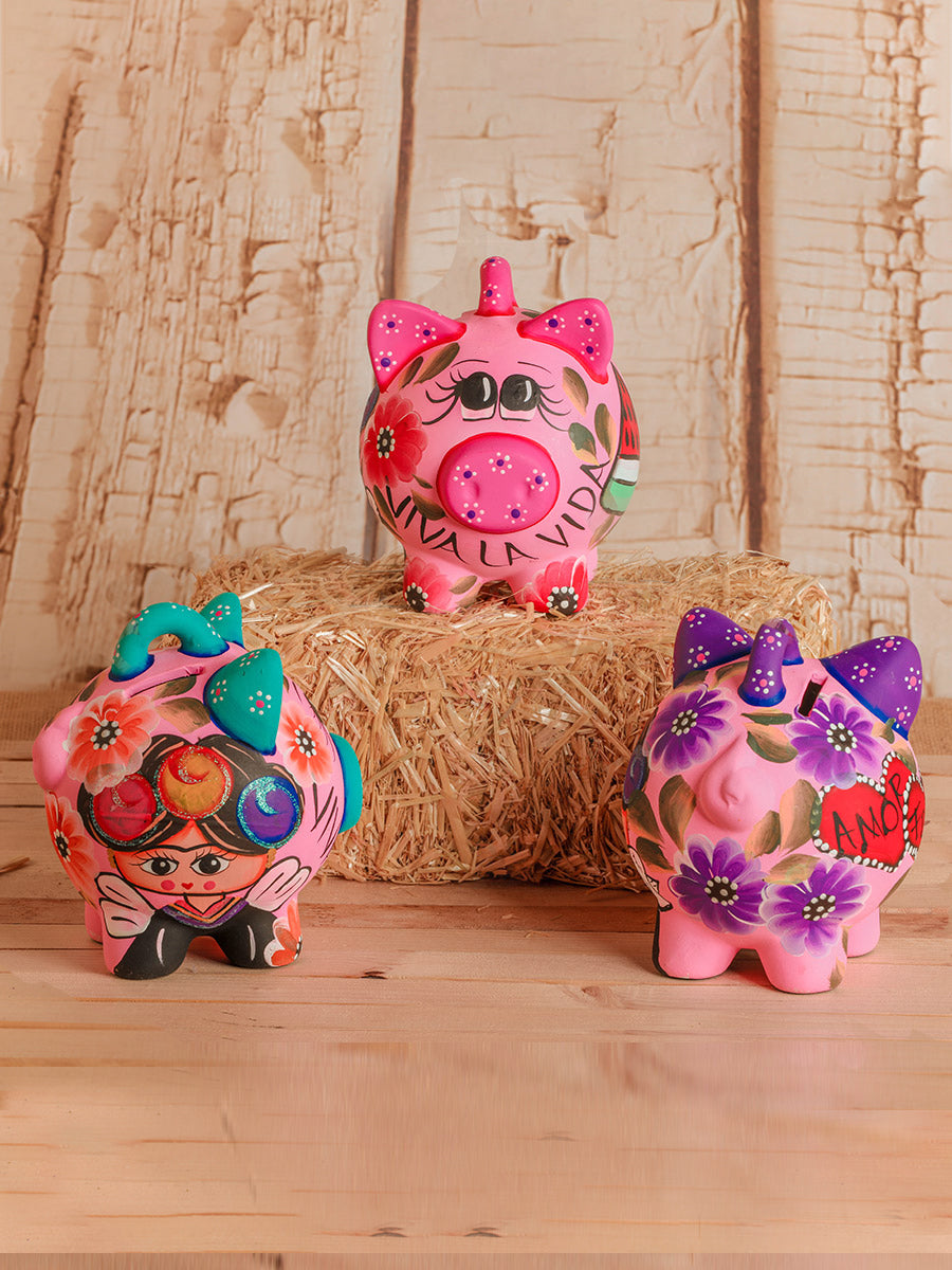 Ceramic Frida Piggy Bank