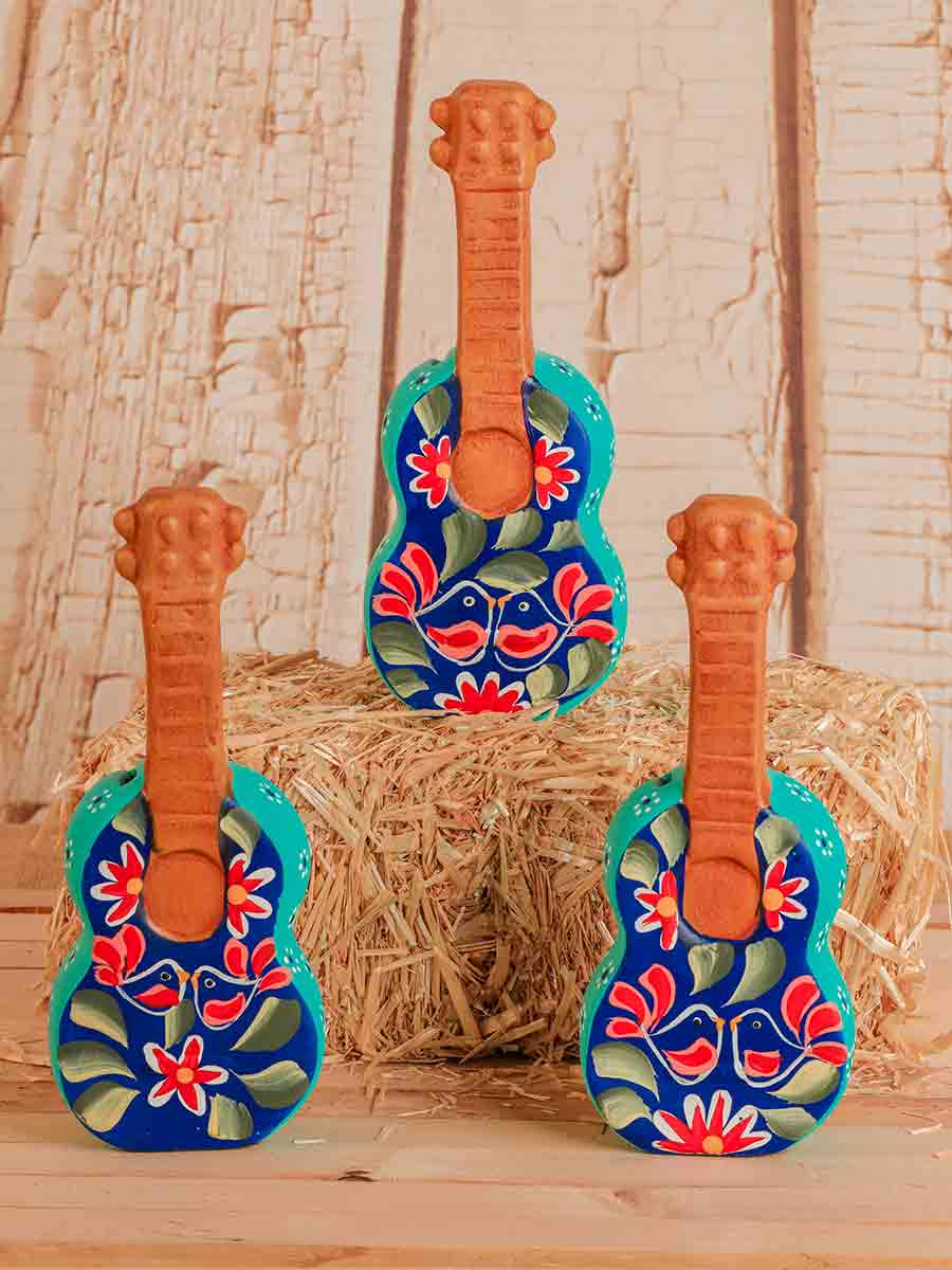 Ceramic Love Birds Guitar Piggy Banks