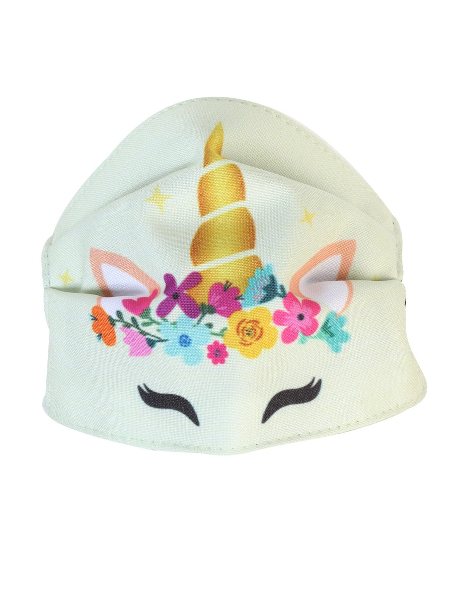 Children's Unicorn Face Mask - Cubrebocas Unicornio de Niña