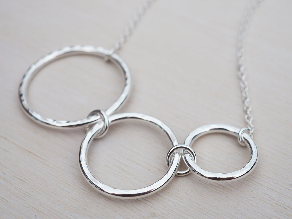 Silver Circles Necklace | Sterling Silver Chain