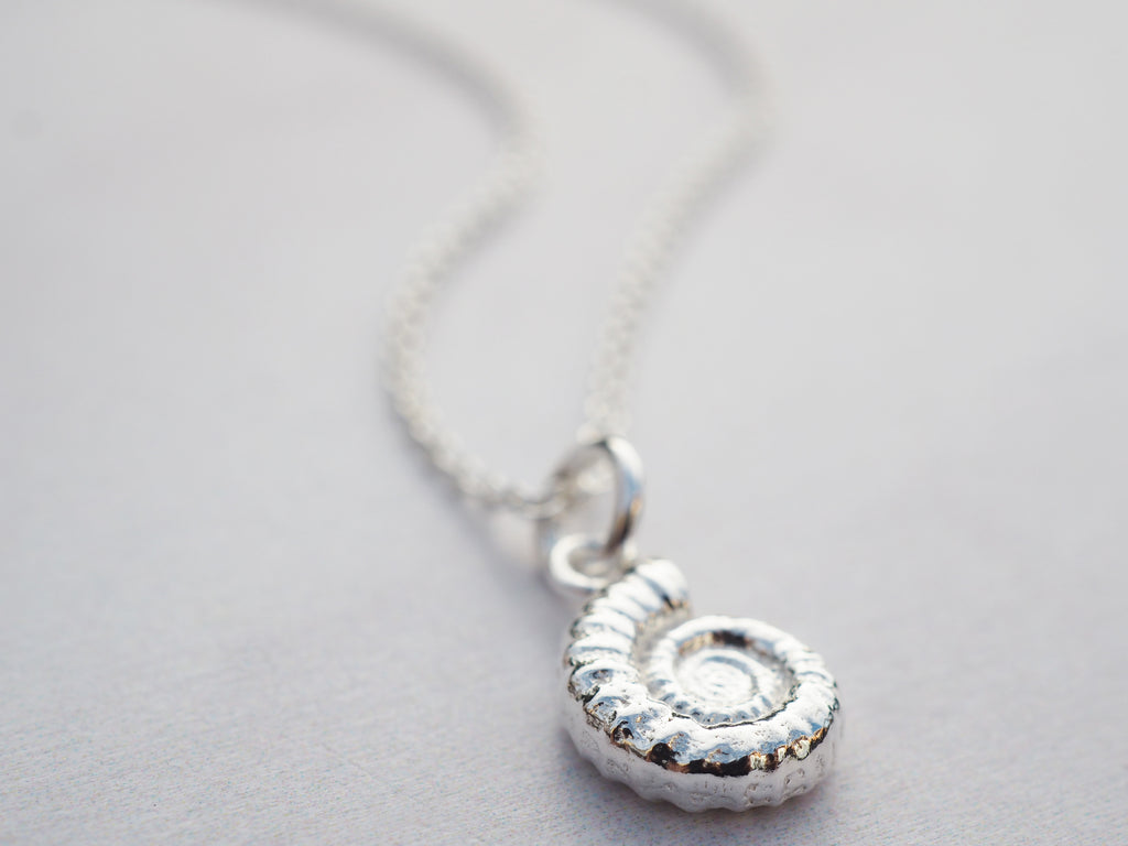 Silver Ammonite Necklace | Sterling Silver
