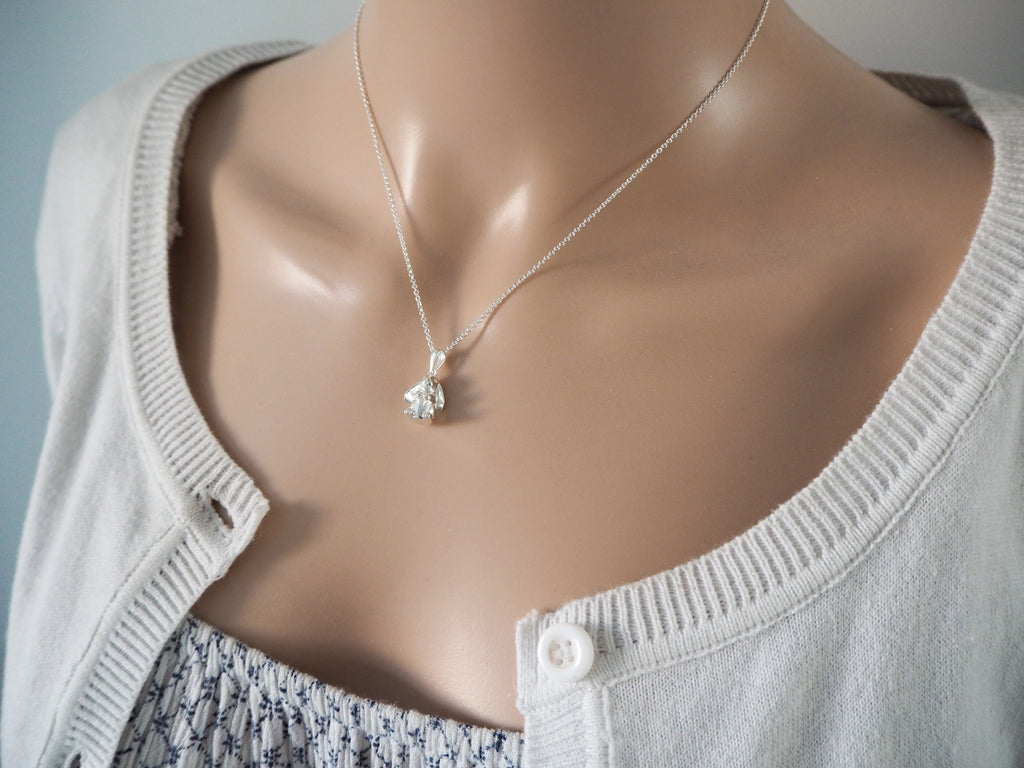 Silver Rabbit Necklace | Sterling Silver